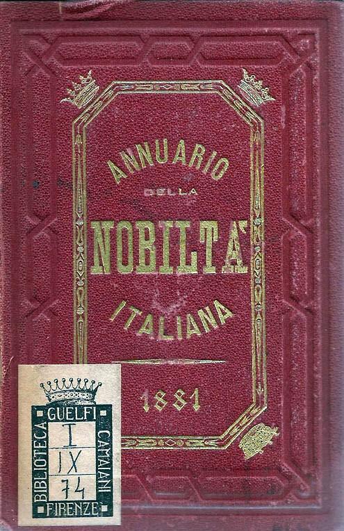 ANNUARIO DELLA NOBILTÀ ITALIANA 1881