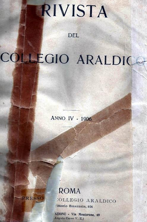 RIVISTA DEL COLLEGIO ARALDICO (RIVISTA ARALDICA), ANNO IV, 1906
