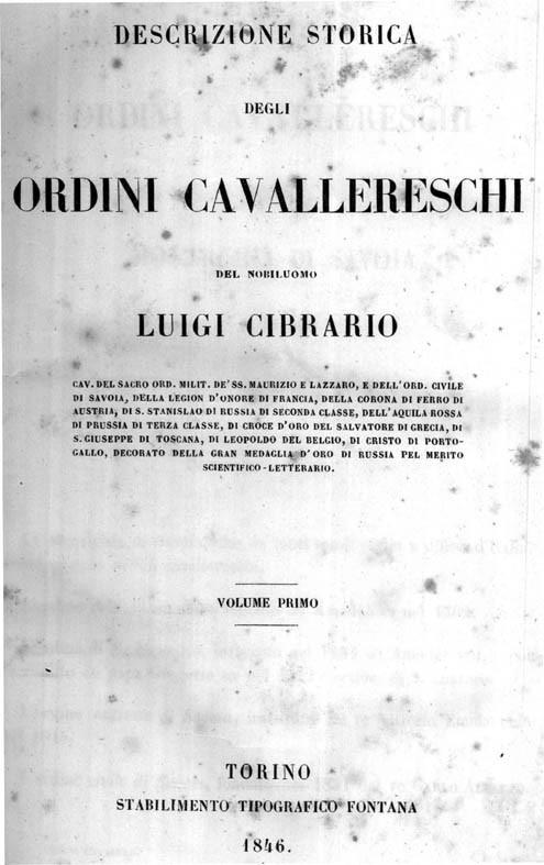 DESCRIZIONE STORICA DEGLI ORDINI CAVALLERESCHI - 2 VOLL.