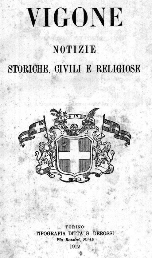 VIGONE NOTIZIE STORICHE CIVILI E RELIGIOSE