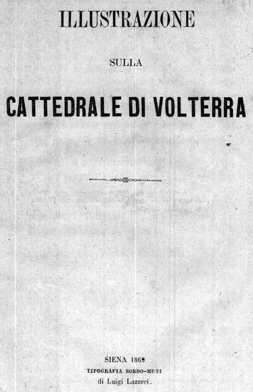 ILLUSTRAZIONE SULLA CATTEDRALE DI VOLTERRA