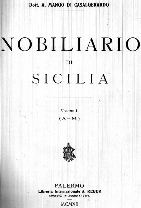 Il Nobiliario di Sicilia. Due Volumi