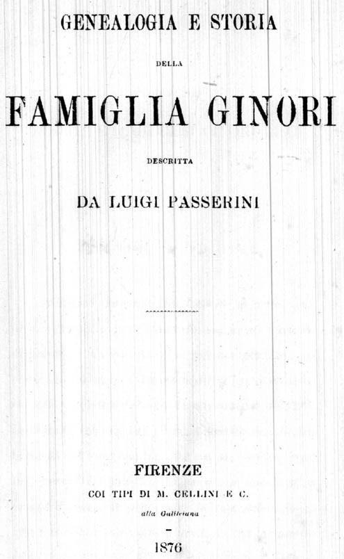 Genealogia e storia della famiglia Ginori