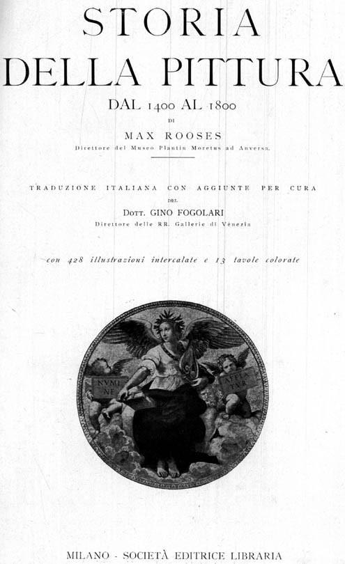 Storia della Pittura dal 1400 al 1800