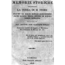 MEMORIE STORICHE RIGUARDANTI LA TERRA DI M. FIORE SEGUITE DA MOLTE NOTIZIE CONCERNENTI ALTRI LUOGHI DELLA DIOCESI DI RIMINI NELLA ROMAGNA.