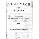 ALMANACH DE GOTHA, 1861. ANNUAIRE GÉNÉALOGIQUE, DIPLOMATIQUE ET STATISTIQUE