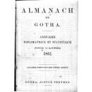 ALMANACH DE GOTHA, 1862. ANNUAIRE GÉNÉALOGIQUE, DIPLOMATIQUE ET STATISTIQUE