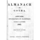 ALMANACH DE GOTHA, 1863. ANNUAIRE GÉNÉALOGIQUE, DIPLOMATIQUE ET STATISTIQUE