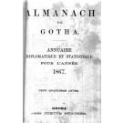 ALMANACH DE GOTHA, 1867. ANNUAIRE GÉNÉALOGIQUE, DIPLOMATIQUE ET STATISTIQUE