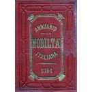 ANNUARIO DELLA NOBILTÀ ITALIANA 1891 (ANNO XIII)