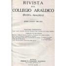 RIVISTA DEL COLLEGIO ARALDICO (RIVISTA ARALDICA), ANNO XXXIX, 1941