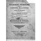 MEMORIE STORICHE DEGLI UOMINI ILLUSTRI DELLA CITTÀ DI SOLMONA